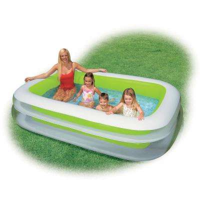 103 in. x 69 in. Rectangular 22 in. Inflatable Pool