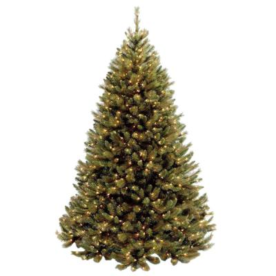 7-1/2 ft. Rocky Ridge Medium Pine Hinged Artificial Christmas Tree with 750 Clear Lights