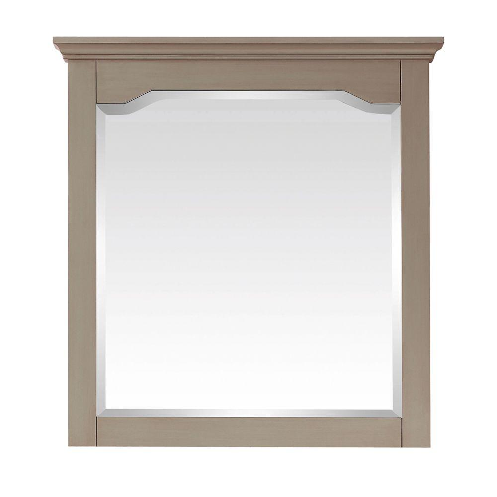 Pegasus Cannes 32 in. x 30 in. W Mirror in Distressed Grey