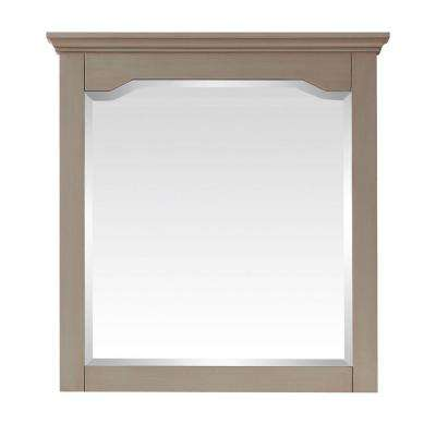 Cannes 32 in. x 30 in. W Mirror in Distressed Grey