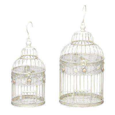 17 in. H x 14 in. H Metal Bird Cage (Set of 2)