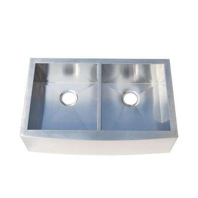 Undermount Stainless Steel 33 in. Double Bowl Kitchen Sink