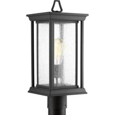 Endicott Collection 1-Light Outdoor Black Post Lamp