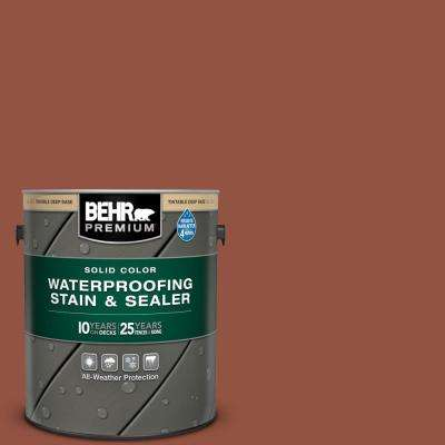 1 gal. #SC-130 California Rustic Solid Color Waterproofing Exterior Wood Stain and Sealer