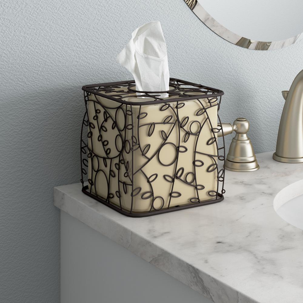 Fl Wire Tissue Box Cover Ceramic