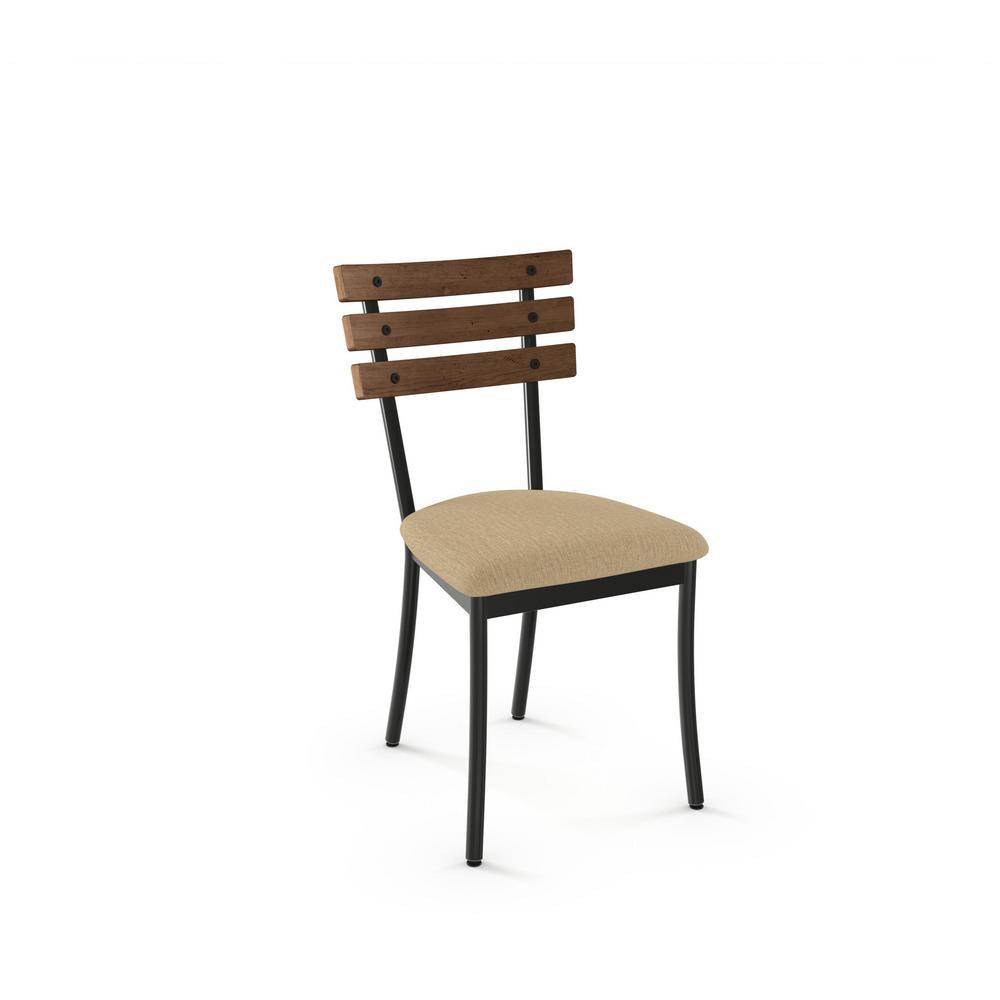 Lodge Semi Transparent Metal Warm Beige Cushion Brown Wood Dining Chair (Set  Of 2