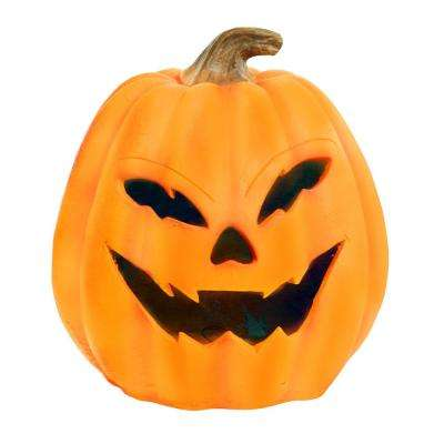 17 in. Pumpkin with Yellow LEDs and Motion Sensor