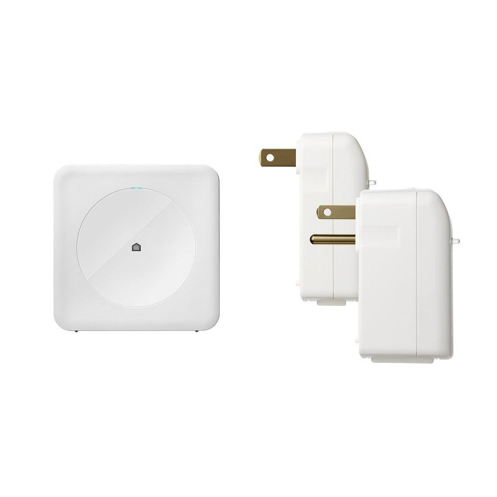 Wink Smart Home Control Kit with Wink Hub, Leviton DZC Dimming Plug-in Lamp Module and Leviton DZC Plug-in Appliance Module