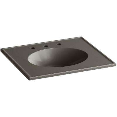 Ceramic/Impressions 25 in. Vitreous China Vanity Top with Basin in Cashmere Impressions