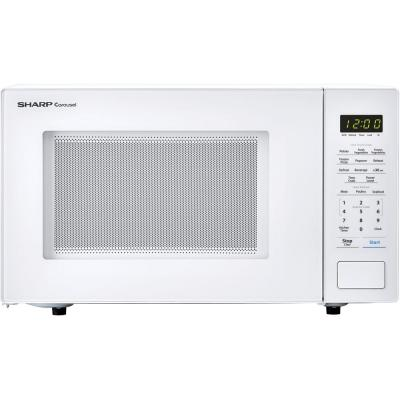 Carousel 1.1 cu. ft. 1000-Watt Countertop Microwave Oven in White (ISTA 6 Packaging)