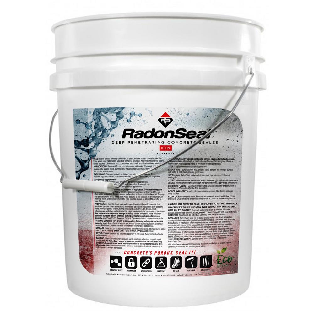 RadonSeal RadonSeal 5 Gal. Plus Penetrating Concrete Sealer, Flat / Matte