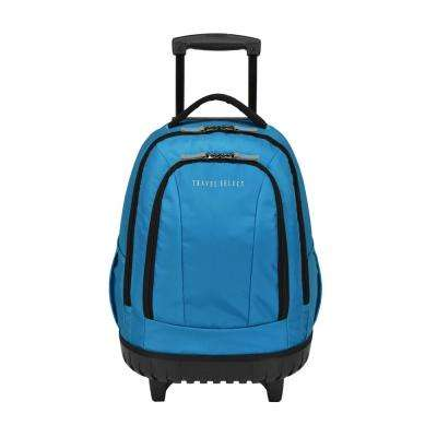 20.5 in. Rolling Teal Backpack