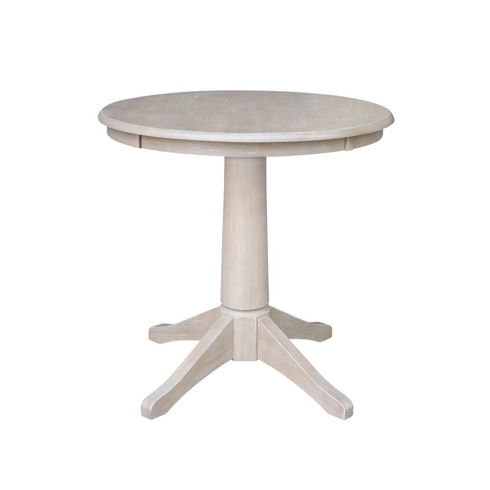 International Concepts Olivia In Round Weathered Gray Pedestal - Round pedestal dining table gray