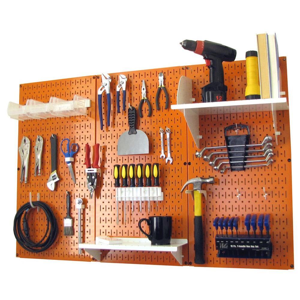 Wall Control 32 in. x 48 in. Metal Pegboard Standard Tool...