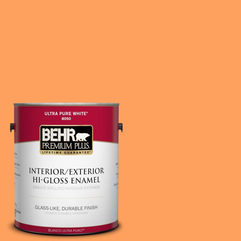 1-gal. #250B-5 Orange Spice Hi-Gloss Enamel Interior/Exterior Paint
