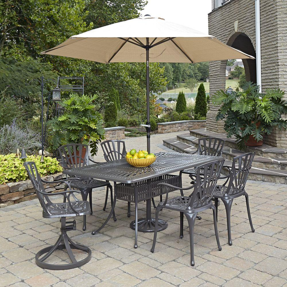 home styles largo 7 piece patio dining set 5561 37586 the home depot. Black Bedroom Furniture Sets. Home Design Ideas