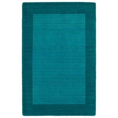 Modern Teal 5 X 8 Area Rugs Rugs The Home Depot