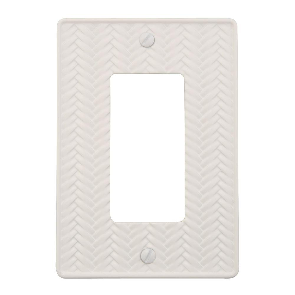 Weave 1 Decora Wall Plate - White