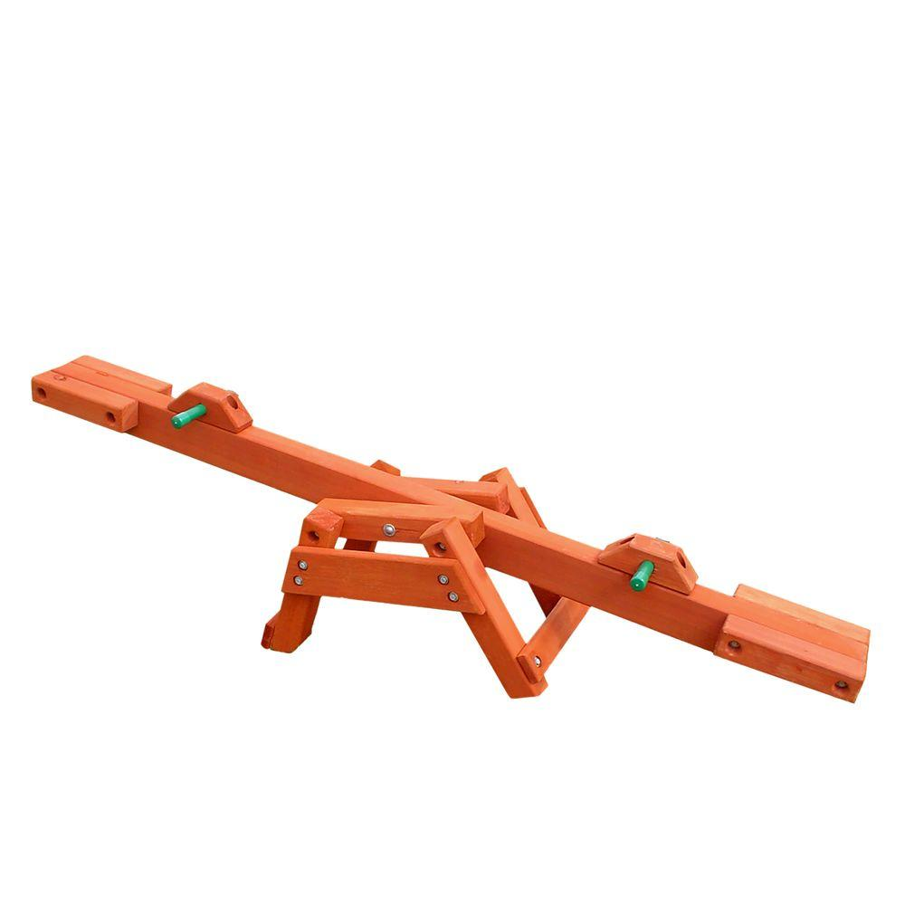 Gorilla Playsets Wooden See-Saw, Amber