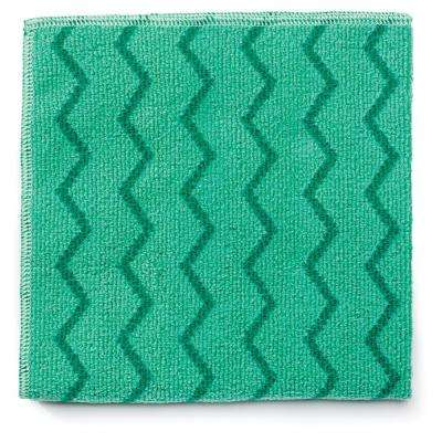 HYGEN 16 in. Microfiber General Purpose Cloth in Green (Case of 12)