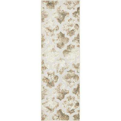 Indoor/Outdoor Nashville Ivory 2' 0 x 6' 0 Runner Rug