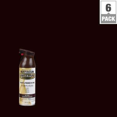 12 oz. All Surface Gloss Espresso Brown Spray Paint and Primer in One (6-Pack)