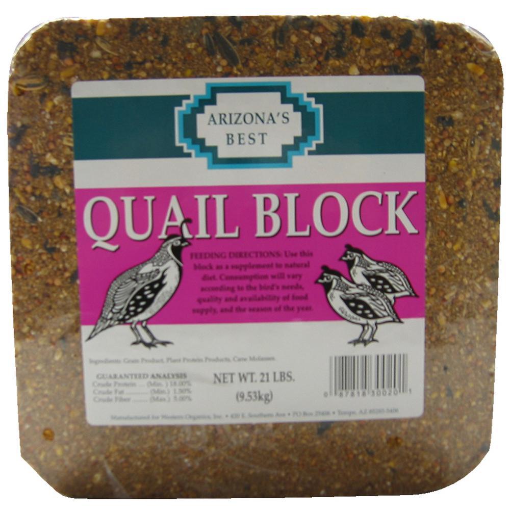 21 lb. Quail Bird Seed Block