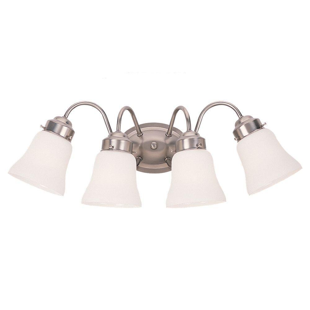Westmont 4-Light Brushed Nickel Vanity Fixture