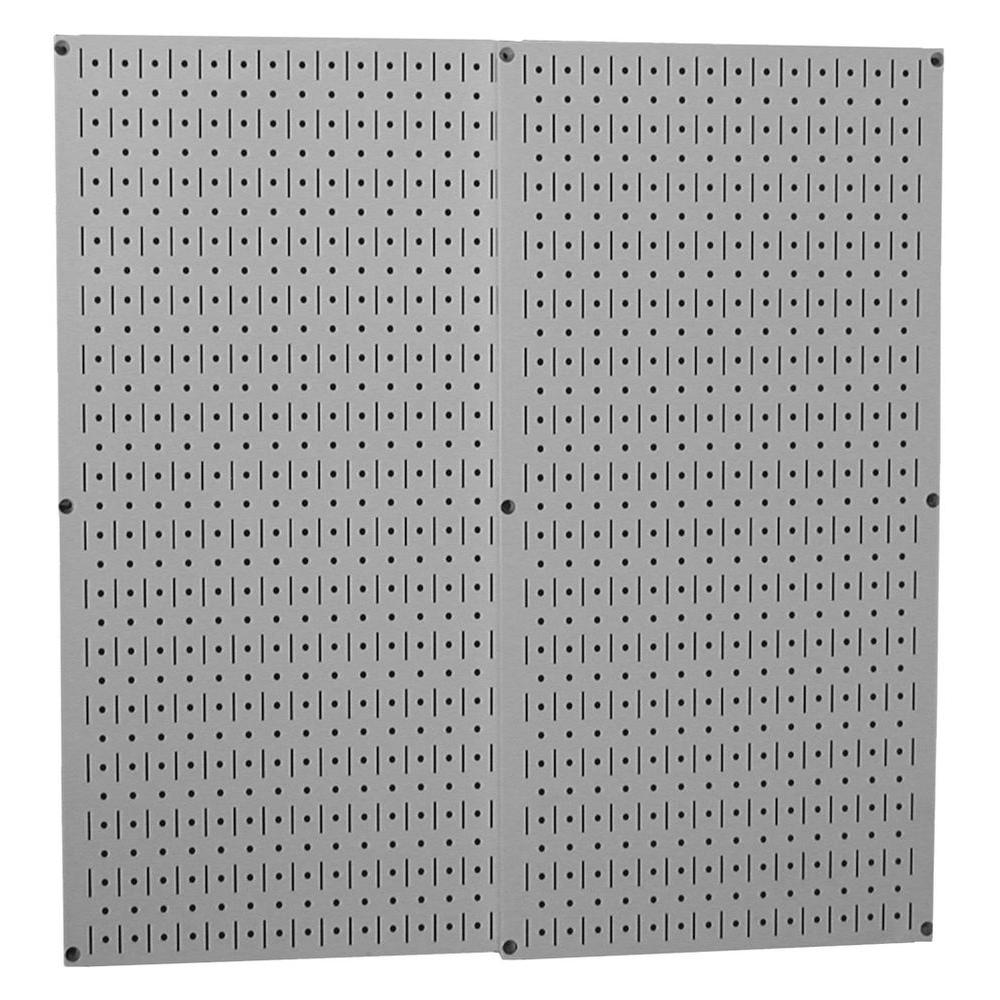 32 in. x 32 in. Overall Size Gray Metal Pegboard Pack