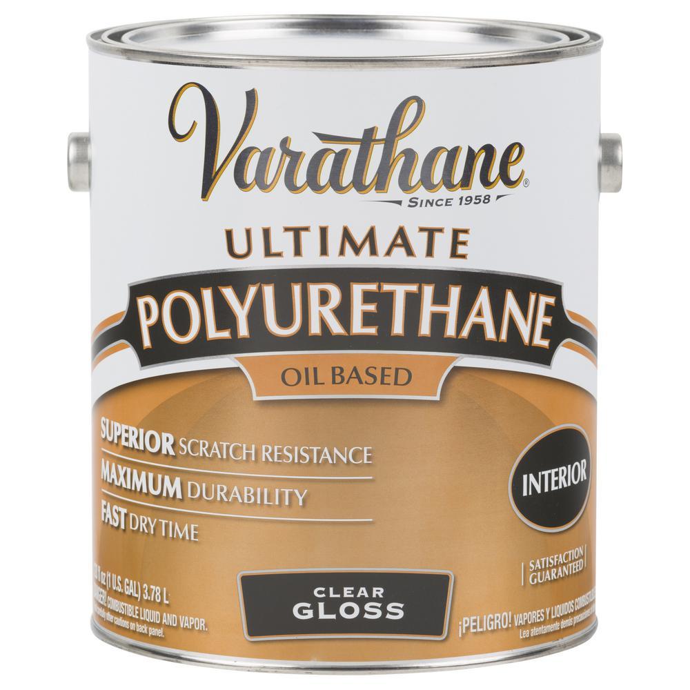 Varathane 1 gal. Clear Gloss 275 VOC Oil-Based Interior Polyurethane (2-Pack)