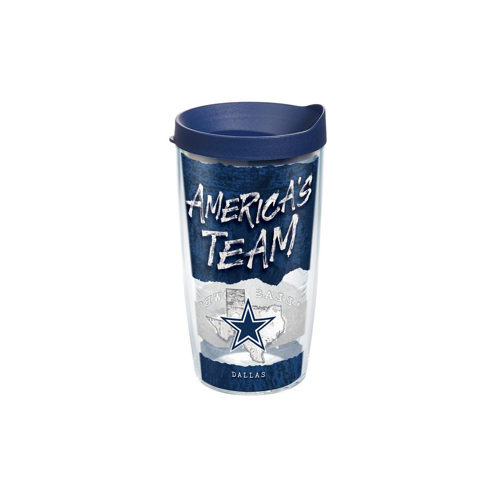 NFL Dallas Cowboys Statement 16 oz. Double Walled Insulated Tumbler with