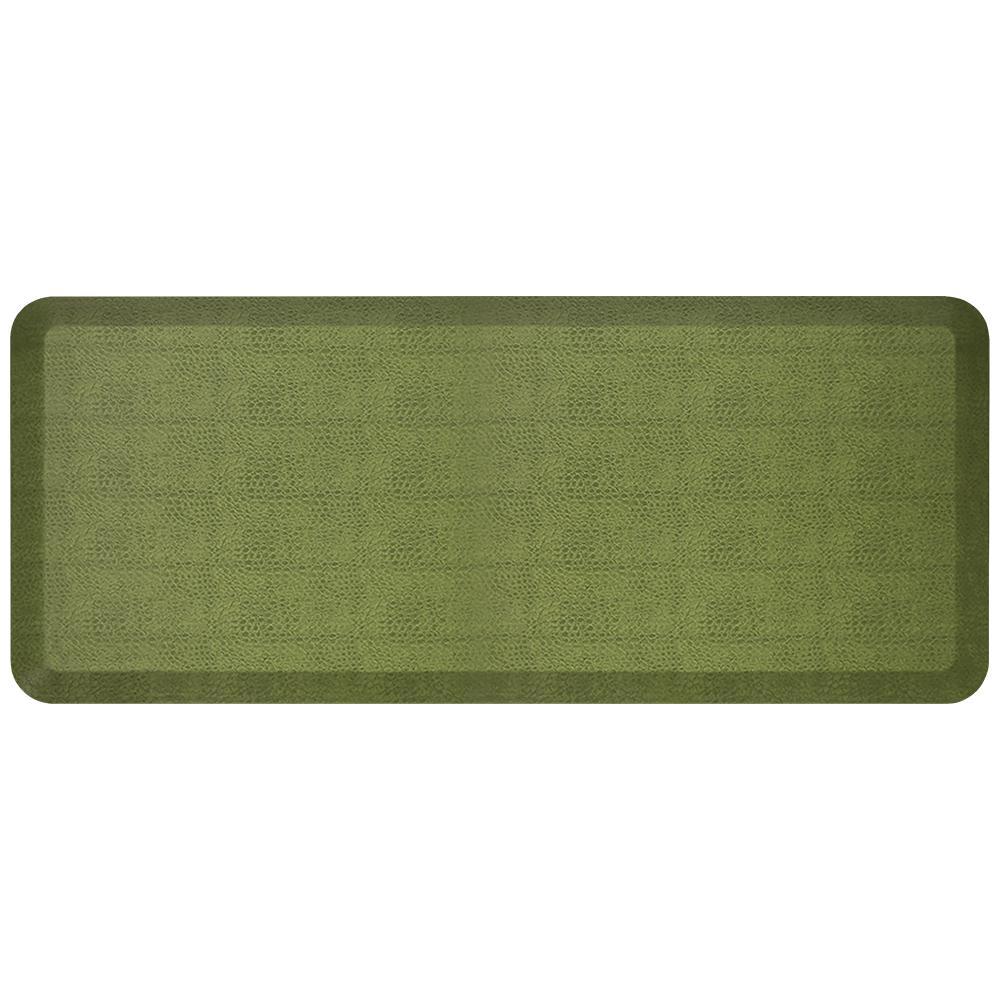 NewLife Designer Pebble Palm 20 in. x 48 in. Anti-Fatigue Comfort Kitchen  Mat