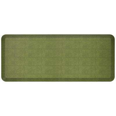 Designer Pebble Palm 20 in. x 48 in. Anti-Fatigue Comfort Kitchen Mat
