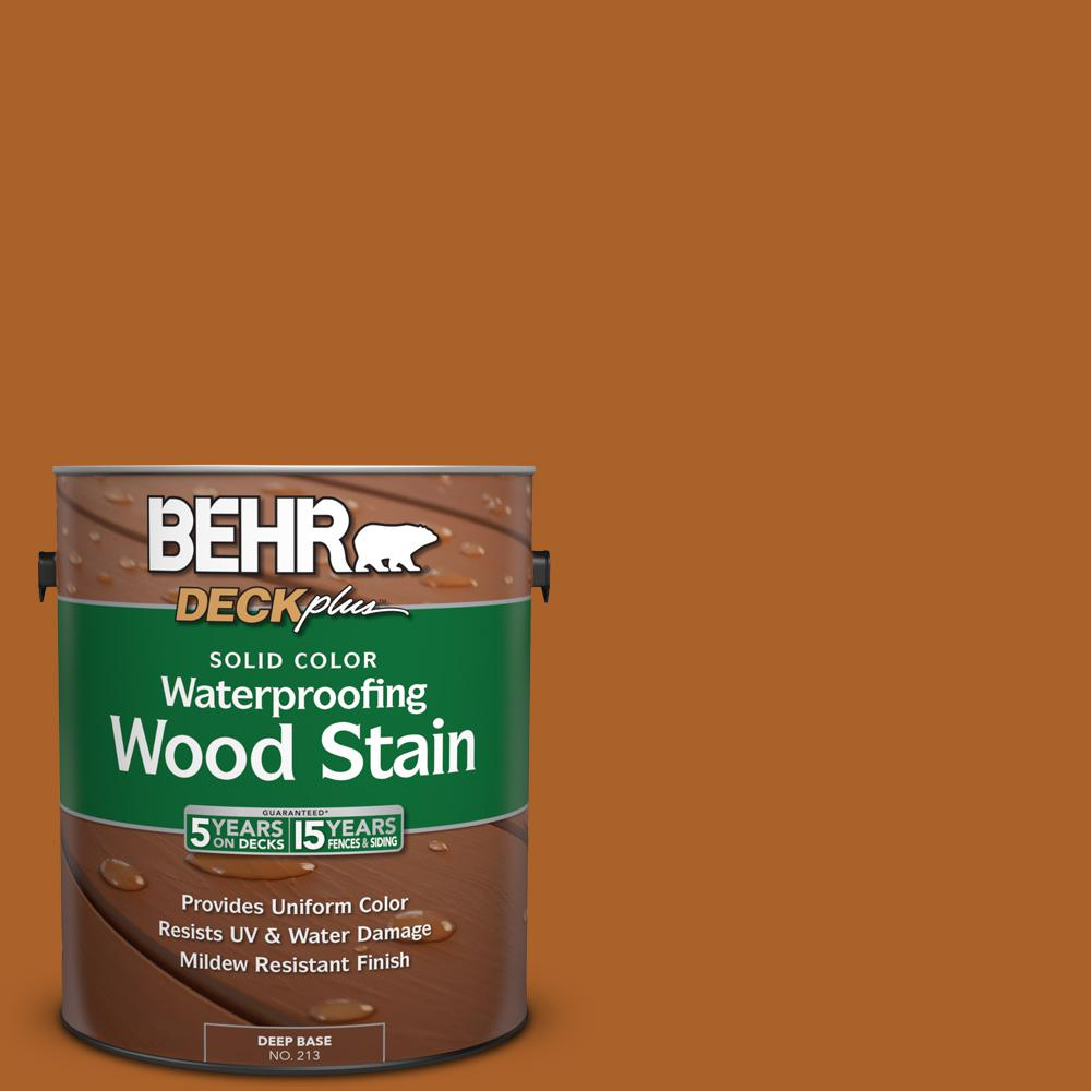 BEHR DECKplus 1 gal. #SC-533 Cedar Naturaltone Solid Color Waterproofing Wood Stain