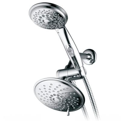 30-spray 6 in. Dual Shower Head and Handheld Shower Head in Chrome