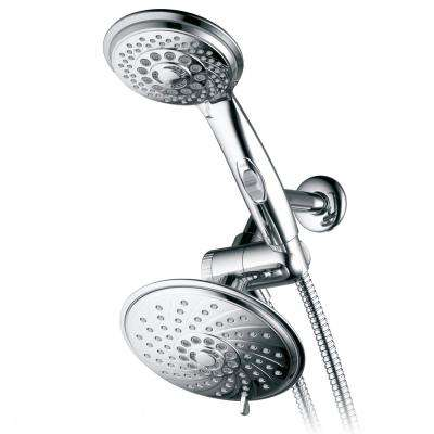 30-Spray Luxury Hand Shower and Shower Head Combo Kit in Chrome