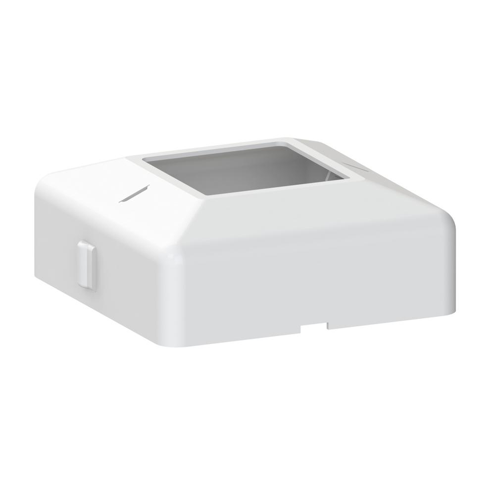 4 in. x 4 in. White Aluminum Post Base Cover