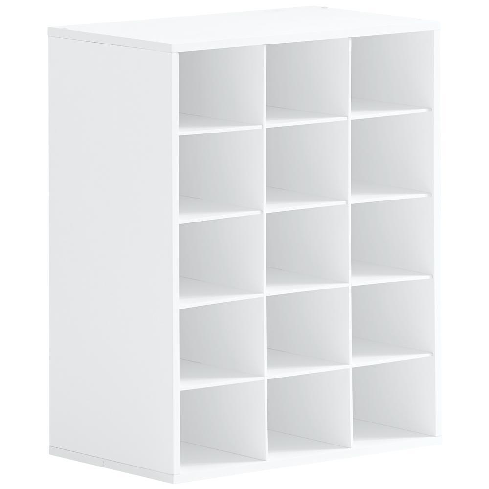 Hampton Bay 25 in. W x 19 in. H White 15-Cube Organizer