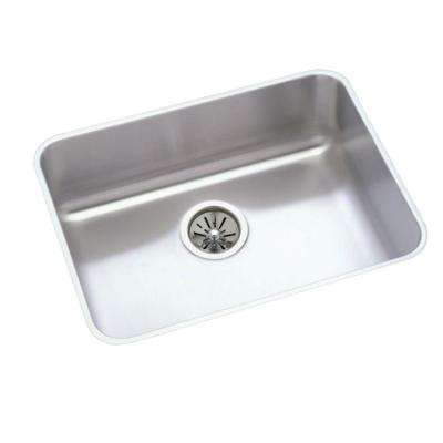 Lustertone Undermount Stainless Steel 24 in. Single Bowl Kitchen Sink with 7.5 in. Bowl