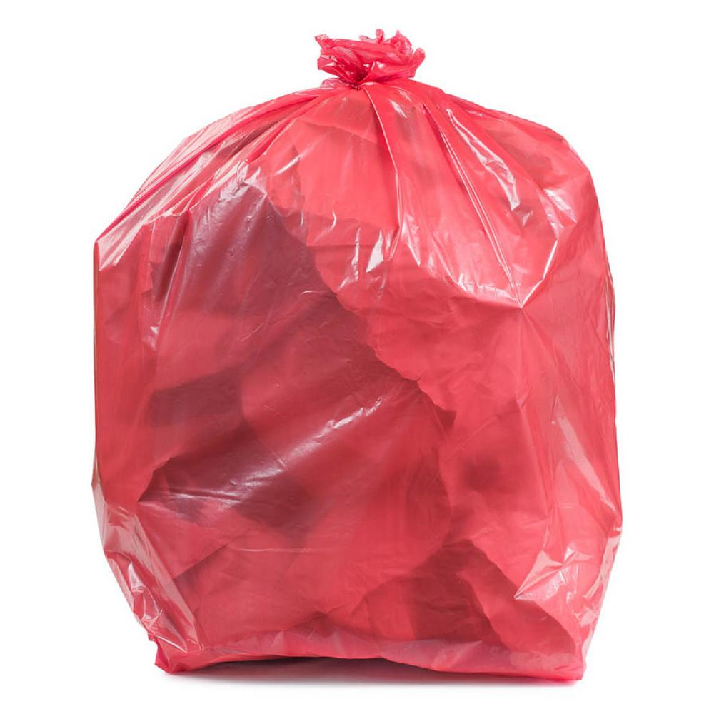 Plasticplace 55 60 Gal Red Trash Bags Case Of 100 W55r15