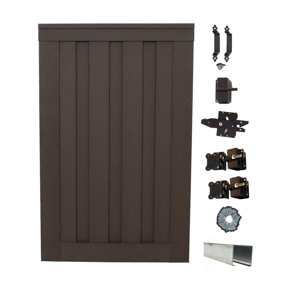 Seclusions 4 ft. x 6 ft. Woodland Brown Wood-Plastic Composite Privacy