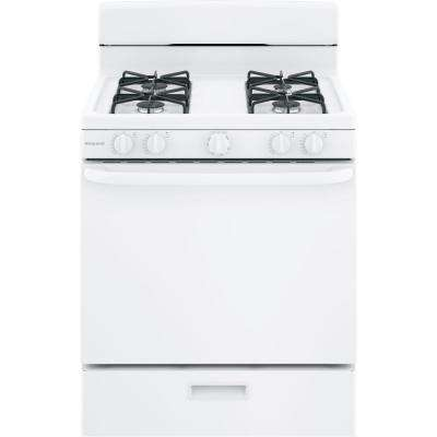 Hotpoint 30 in. 4.8 cu. ft. Gas Range Oven in Black