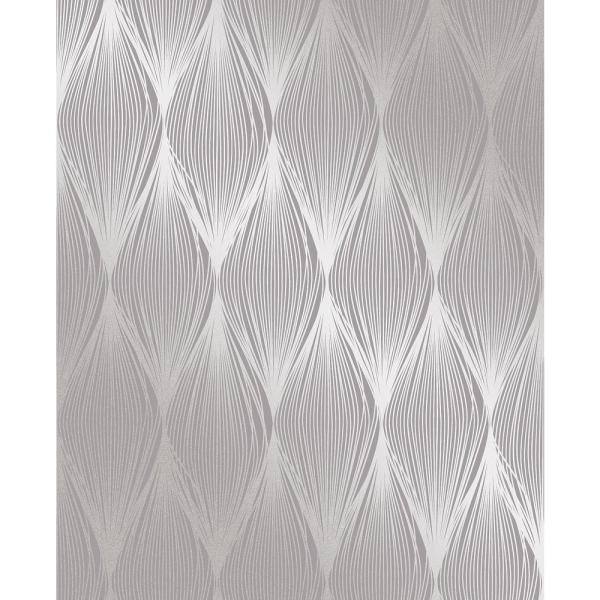 Decorline Gleam Purple Linear Ogee Wallpaper 2735-23327