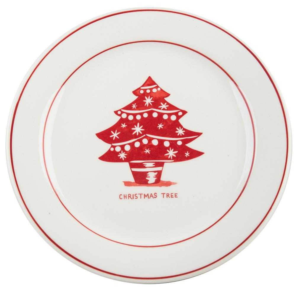 Molly Hatch Molly Hatch 8 5 In D Christmas Tree Salad Plate 63922
