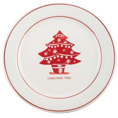 Molly Hatch 8.5 in. D Christmas Tree Salad Plate