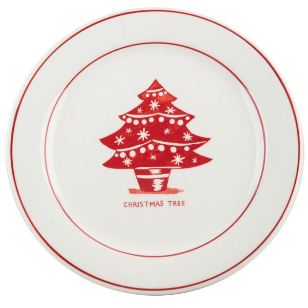 Christmas Plates.Molly Hatch 8 5 In D Christmas Tree Salad Plate