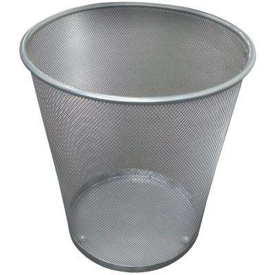 5 gal. Silver Round Mesh Trash Can