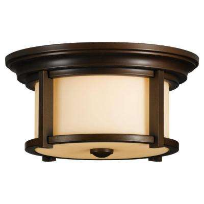 Merrill 2-Light Heritage Bronze Outdoor Ceiling Fixture