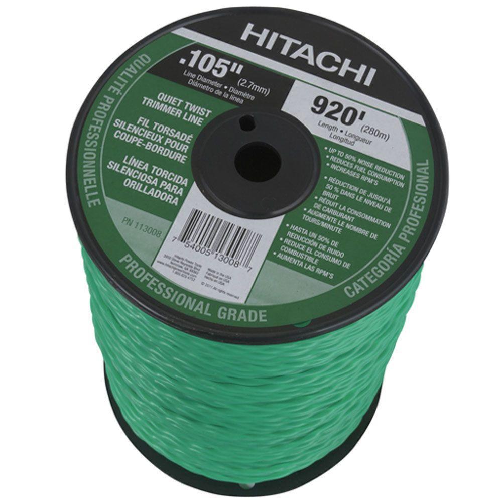 Hitachi 920 ft. Large Spool Quiet Twist Trimmer Line