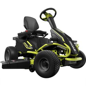 Ryobi 38 inch Battery Electric Rear Engine Riding Lawn Mower by Ryobi